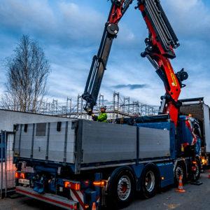 Kran Arbeit // Peter Nussbaumer Transporte AG