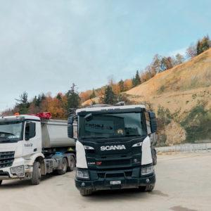 Schüttguttransport bei Nussbaumer