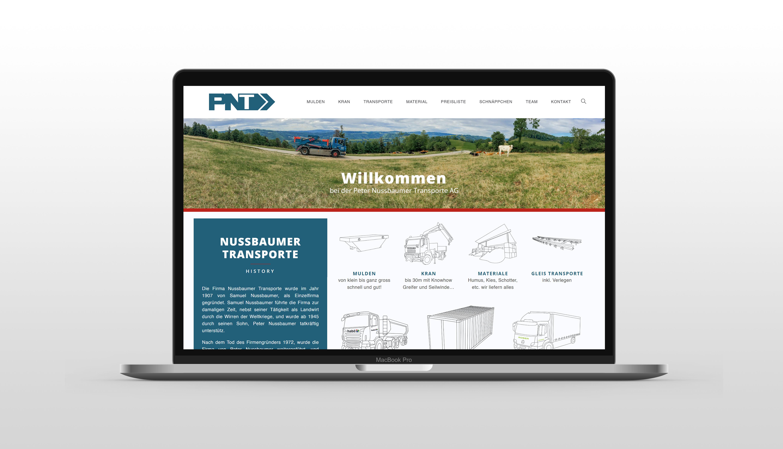 Neu Website // Peter Nussbaumer Transporte AG